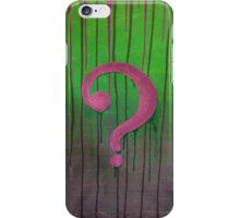 Riddle Me This? iPhone Case/Skin