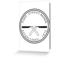 Fleet Steet Barber Greeting Card