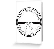 Fleet Steet Barber Greeting Card