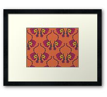 Elegance Seamless pattern with flowers ornament Framed Print