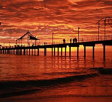 Brighton Jetty, 'Red' S.A by BenClarkImagery