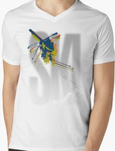 Ski Mens V-Neck T-Shirt