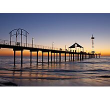 'RED' Brighton Jetty Sunset,  South Australia  Photographic Print