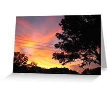 Neighborhood Sunset Greeting Card