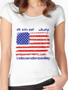 Independence day Women's Fitted Scoop T-Shirt