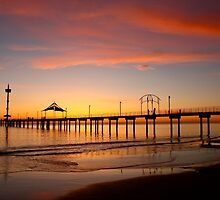 Brighton Jetty Sunset,  South Australia  by BenClarkImagery