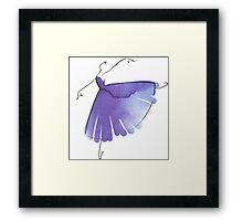 ballerina figure, watercolor Framed Print