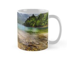 Lake in mountains, in a rainy day Mug