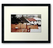 Ploesti Roofs. Romania Framed Print