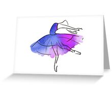 ballerina figure, watercolor Greeting Card