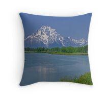 Teton Glacier Reflection on the Snake River Throw Pillow