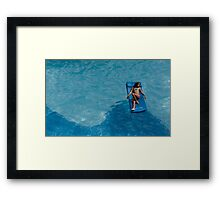 Blue Moves Framed Print
