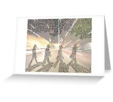 The Beatles Tribute - Abbey Road Greeting Card