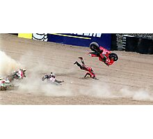 Steve Hislop Crash Photographic Print
