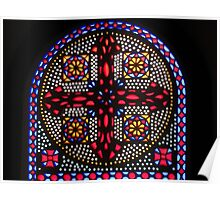 Stained Glass Window - Coptic Church Poster