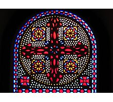 Stained Glass Window - Coptic Church Photographic Print