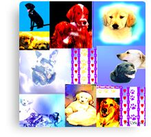 K9 Hearts and Paws  Canvas Print