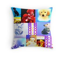 K9 Hearts and Paws  Throw Pillow