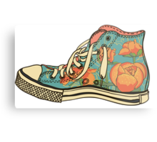 colored pattern gym shoes Metal Print