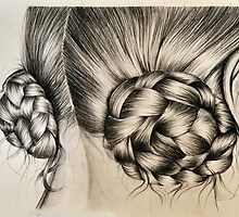 Braids in buns by Inese