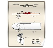 Surfboard Patent - Colour Poster