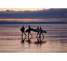 Surfers, Westward Ho!, Devon Photographic Print