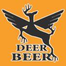 Deer beer t-shirt by valizi