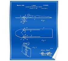 Surfboard Patent - Blueprint Poster