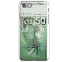 50 Old Swiss Francs Note iPhone Case/Skin
