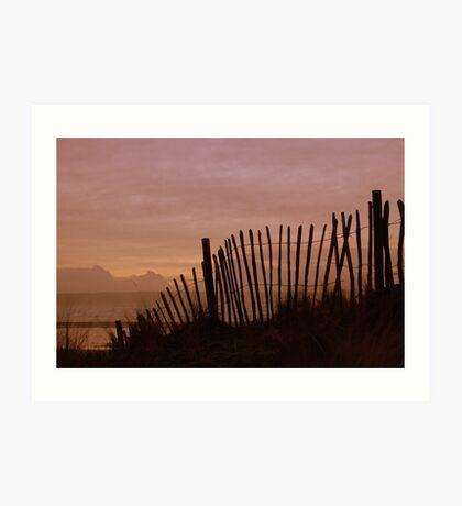 Fence, Westward Ho!, Devon. Art Print