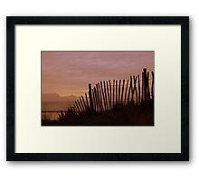 Fence, Westward Ho!, Devon. Framed Print