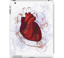 drawing of the heart, anatomical iPad Case/Skin