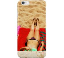 getting tanned iPhone Case/Skin