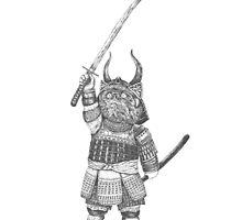 Samurai Cat by poraque