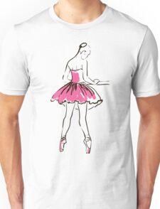 sketch of girl's ballerina  Unisex T-Shirt