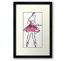 sketch of girl's ballerina  Framed Print