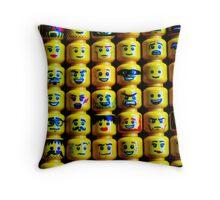 The Face of Lego Throw Pillow