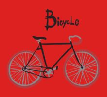 illustration of  vintage bicycle One Piece - Short Sleeve