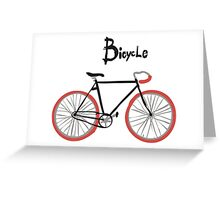 illustration of  vintage bicycle Greeting Card