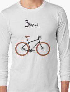 illustration of  vintage bicycle Long Sleeve T-Shirt
