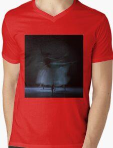 Performance in White Mens V-Neck T-Shirt
