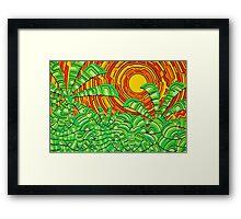 Aztec Jungle Framed Print