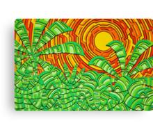 Aztec Jungle Canvas Print