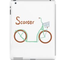 Illustration of vintage vector scooter iPad Case/Skin