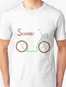 Illustration of vintage vector scooter Unisex T-Shirt
