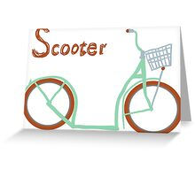 Illustration of vintage vector scooter Greeting Card