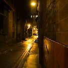 Gloomy Dark Alleyway at Night by Bob Davies
