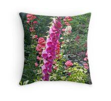 """""""Foxglove Beauty"""" Throw Pillow"""