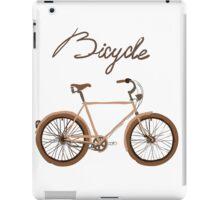 illustration of  vintage bicycle iPad Case/Skin