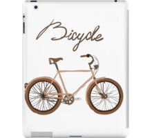 illustration of  vintage bicycle iPad Case/Skin